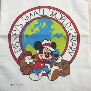 Vintage Disney Library Book Bag, Mickey Mouse